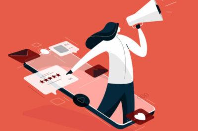 Illustrerad bild på en människa med en megafon